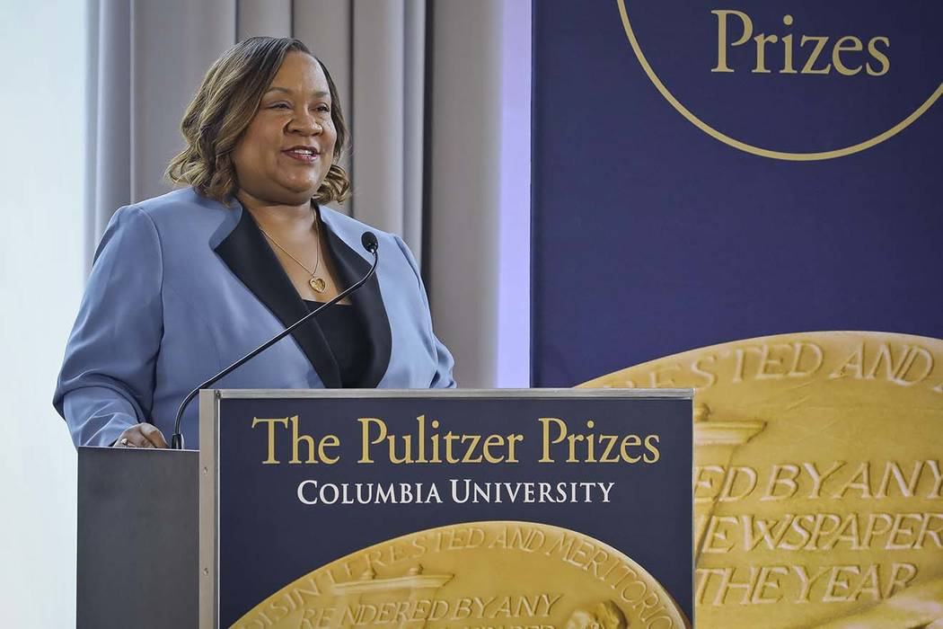 Dana Canedy, the new administrator of The Pulitzer Prizes, make announcement of winners Monday ...
