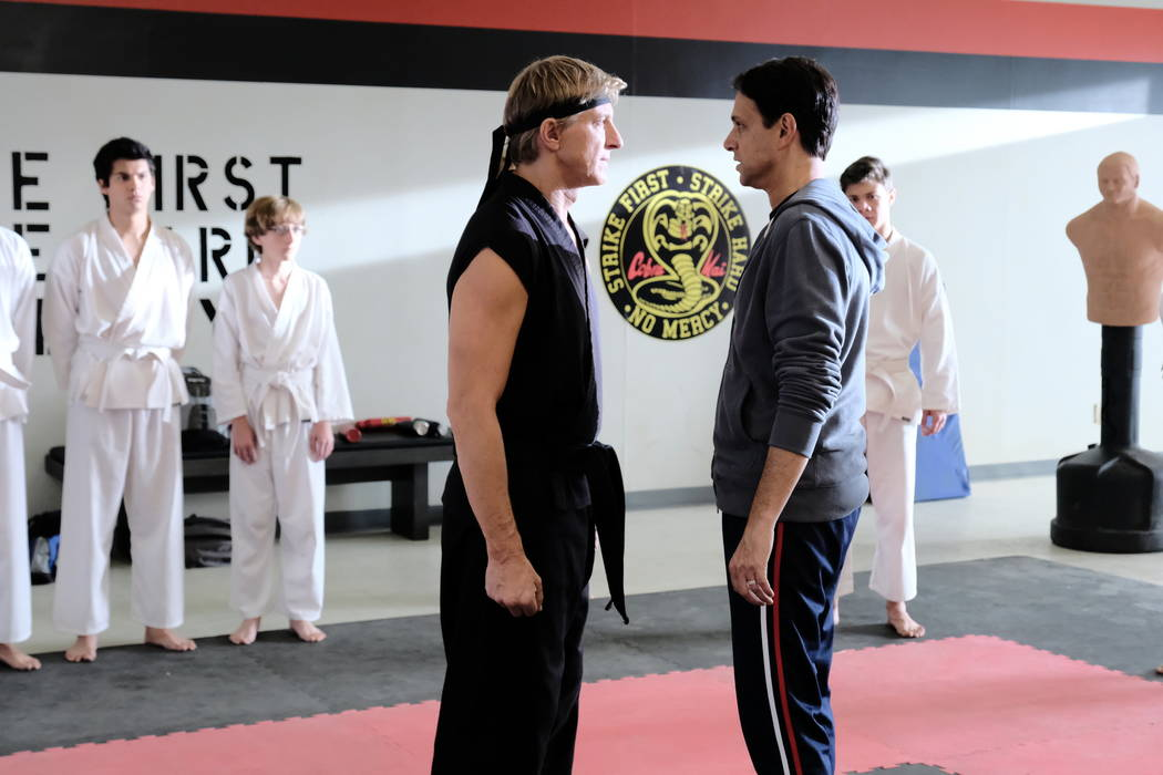 "William Zabka and Ralph Macchio star in ""Cobra Kai."" (Sony)"