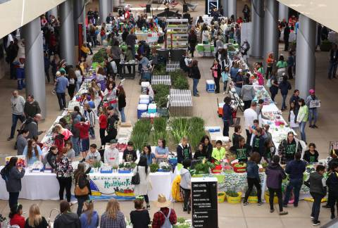 The Clark County School students sale their produce at Green Our Planet's Giant Student Farmers ...