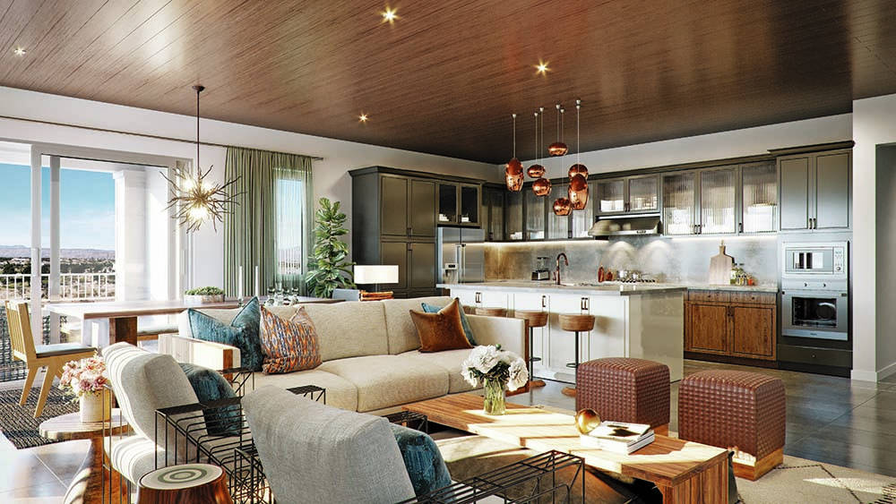 Toll Brothers Home shoppers can view floor plans at Mira Villa, a Summerlin condo community, b ...