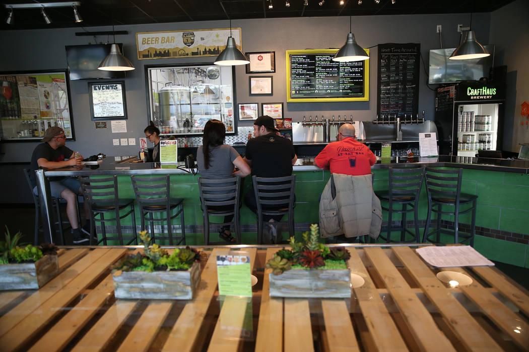 CraftHaus Brewery in Henderson, Saturday, April 13, 2019. (Erik Verduzco/Las Vegas Review-Journ ...