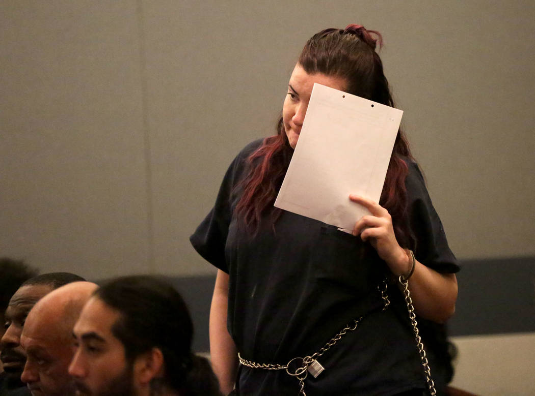 Diana Pena, one of three suspects in the killing of a California doctor appears in court on Tue ...