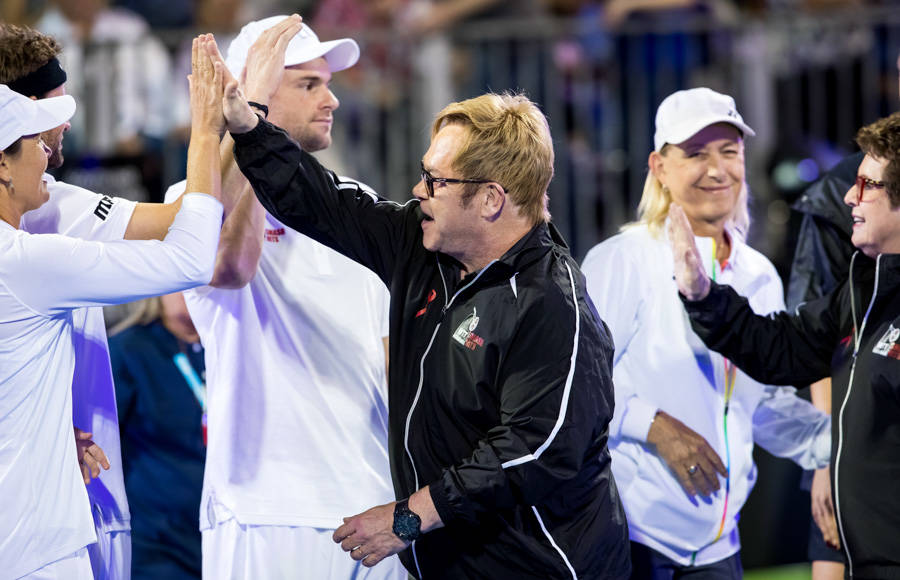 The 2016 World Team Tennis Smash Hits fundraiser benefiting The Elton John AIDS Foundation at C ...