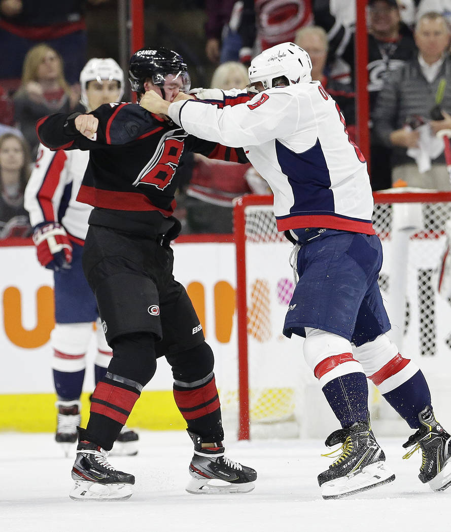 quality design 2bca0 0d938 Alex Ovechkin fight lands Hurricanes' rookie Svechnikov in ...