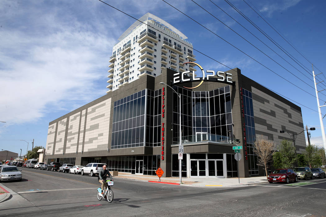 Eclipse Theaters in downtown Las Vegas Tuesday, April 16, 2019. A scheduled foreclosure auction ...