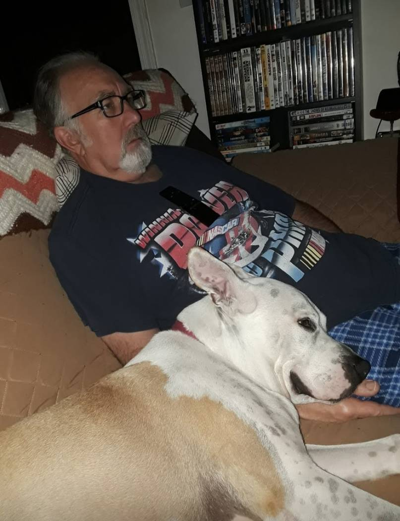 Donald Mercer and his dog, a pitbull terrier named Chase. The two were taking their morning wal ...