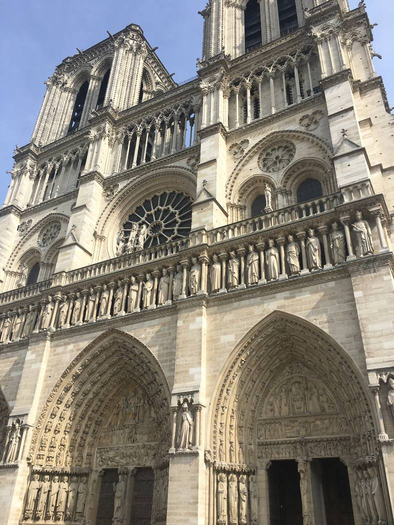 Notre Dame Cathedral in Paris is shown about 30 minutes before fire broke on Monday April 15, 2 ...