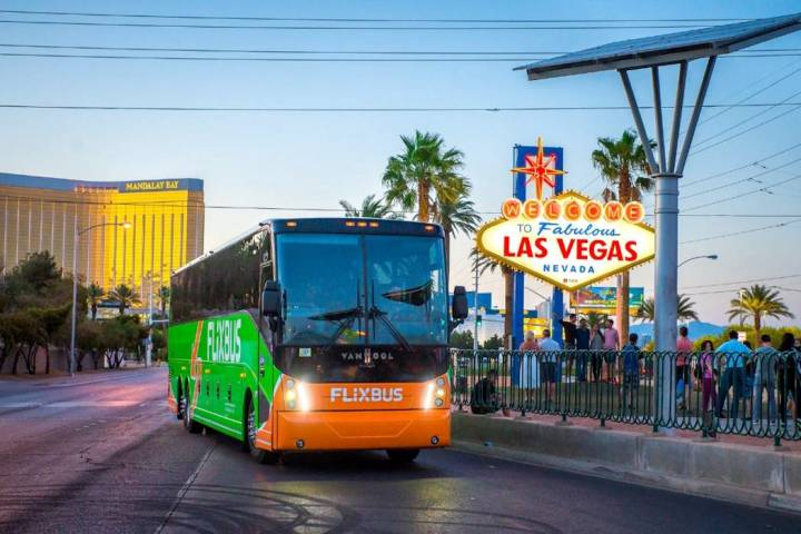 Low cost bus startup FlixBus plans to expand its Las Vegas service area to four Utah cities thi ...