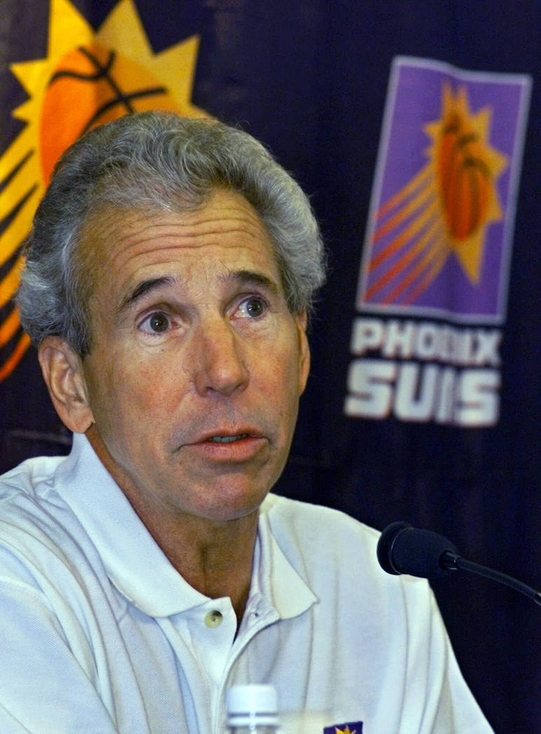 FILE - In this Saturday, Dec. 18, 1999, file photo, Phoenix Suns assistant coach John MacLeod a ...