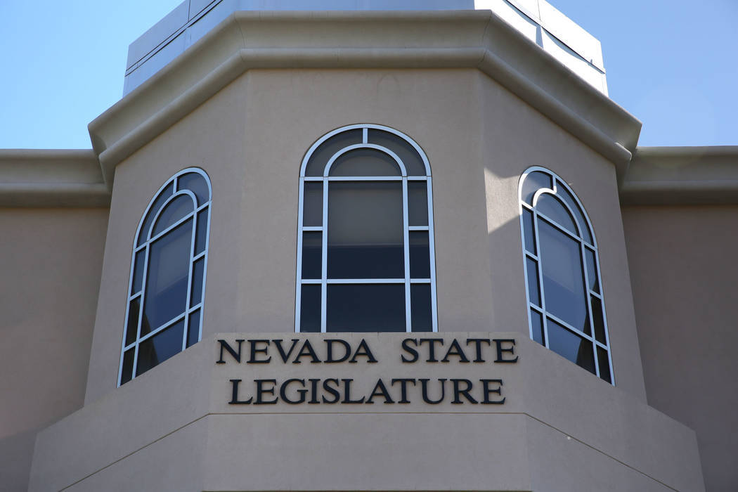 The Nevada State Legislature building in Carson City. (David Guzman/Las Vegas Review-Journal Fo ...