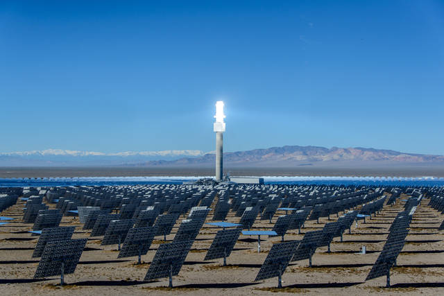 Special to the Pahrump Valley Times The Crescent Dunes solar plant near Tonopah we'll be incr ...