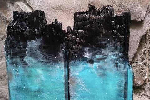 """Underwater"" by Birgit Tode at the Boulder City Art Guild Gallery."