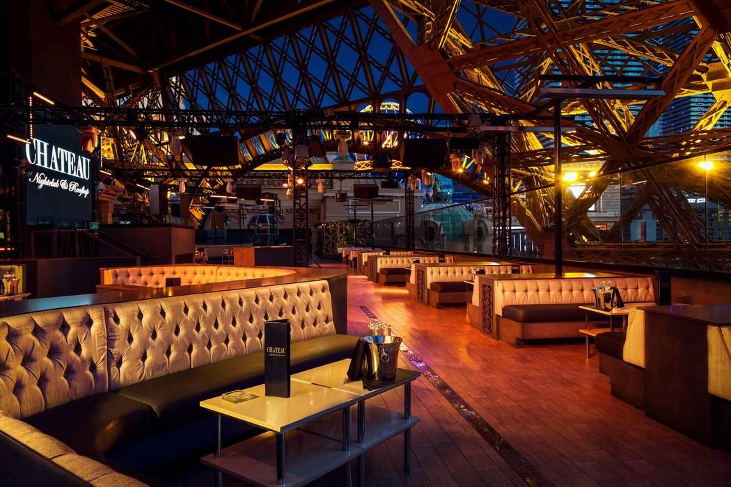 "The roof top of Chateau Nightclub, site of ""Stars-N-Stilettos"" drag brunch at Paris Las Vegas. ..."