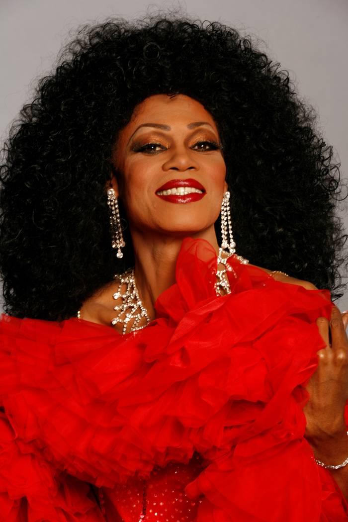 "Chris Woods as Diana Ross in ""Stars-N-Stilettos"" drag brunch at Chateau Nightclub at Paris Las ..."