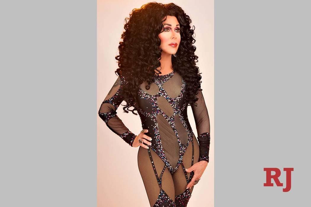 """Steven Wayne as Cher in """"Stars-N-Stilettos"""" brunch at Chateau Nightclub. (Courtesy)"""