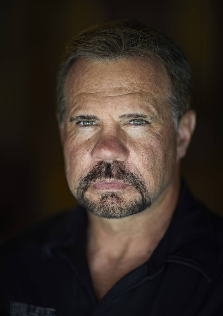 Grant Whitus poses April 9, 2019, for a portrait at his home in Lake Havasu City, Ariz. Whitus' ...