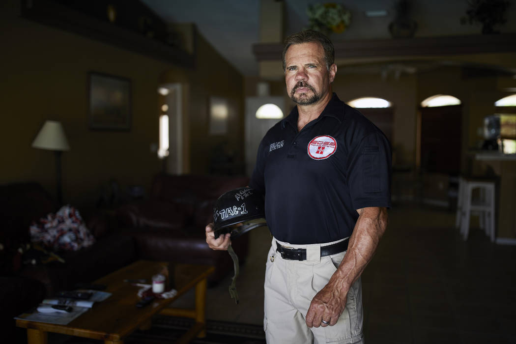 Grant Whitus poses for a portrait April 9, 2019, at his home in Lake Havasu City, Ariz. Whitus' ...