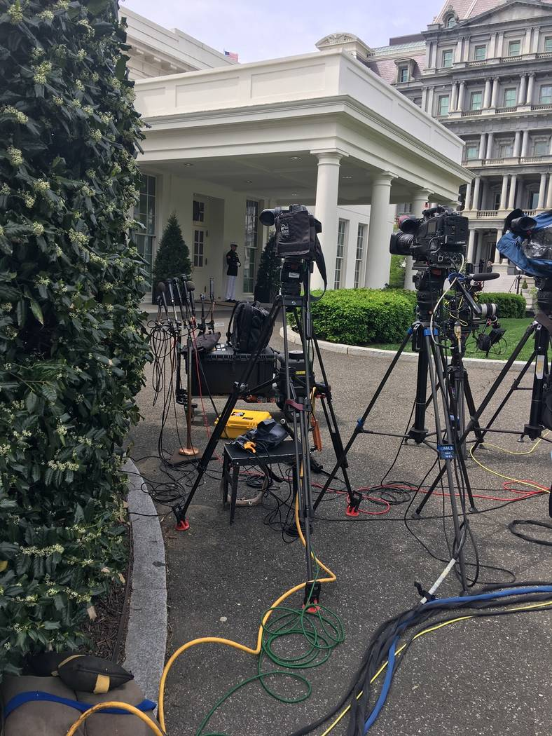Wednesday the White House press area was eerily quiet ahead of the Thursday release of the Muel ...