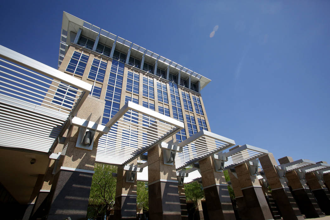 North Las Vegas City Hall as seen on Tuesday, May 29, 2018. (Michael Quine/Las Vegas Review-Jou ...