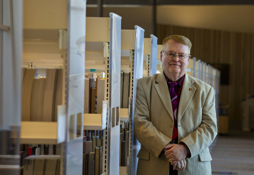 Library director Ron Heezen is pleased with the fine work completed on the new East Las Vegas L ...