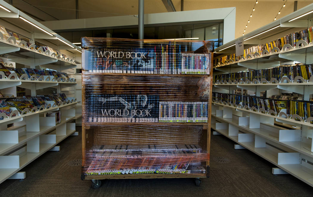 Lots of books are still yet to be shelved as work continues on the new East Las Vegas Library, ...