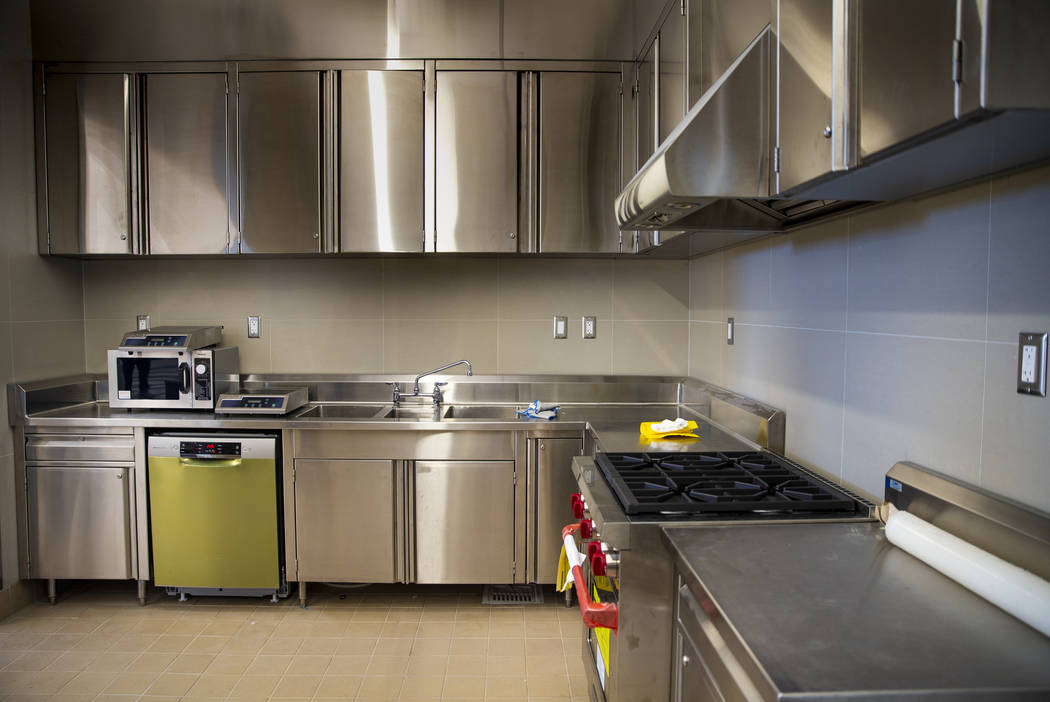 A demonstration kitchen is just one of many interesting items card holders can utilize as work ...