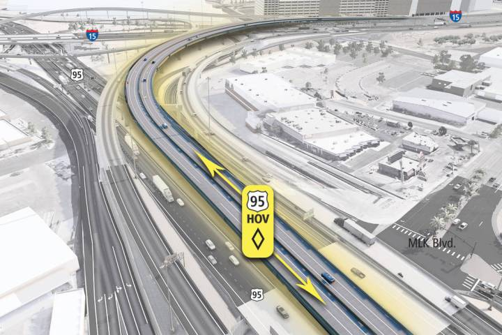 U.S. 95 will be narrowed to two lanes so that crews can split the northbound and southbound lan ...