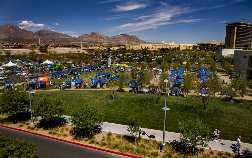 GREENFest celebrates its 10th anniversary at Downtown Summerlin which features environmental to ...