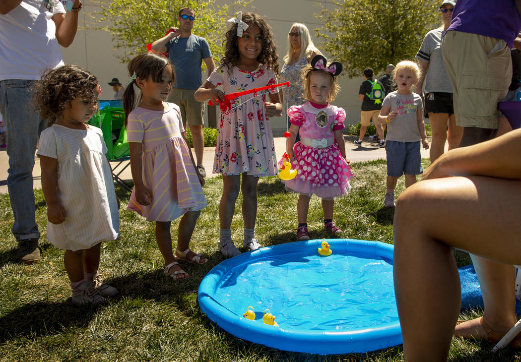 The Nevada Water Environment Association offers a fishing pond for kids in their informative an ...
