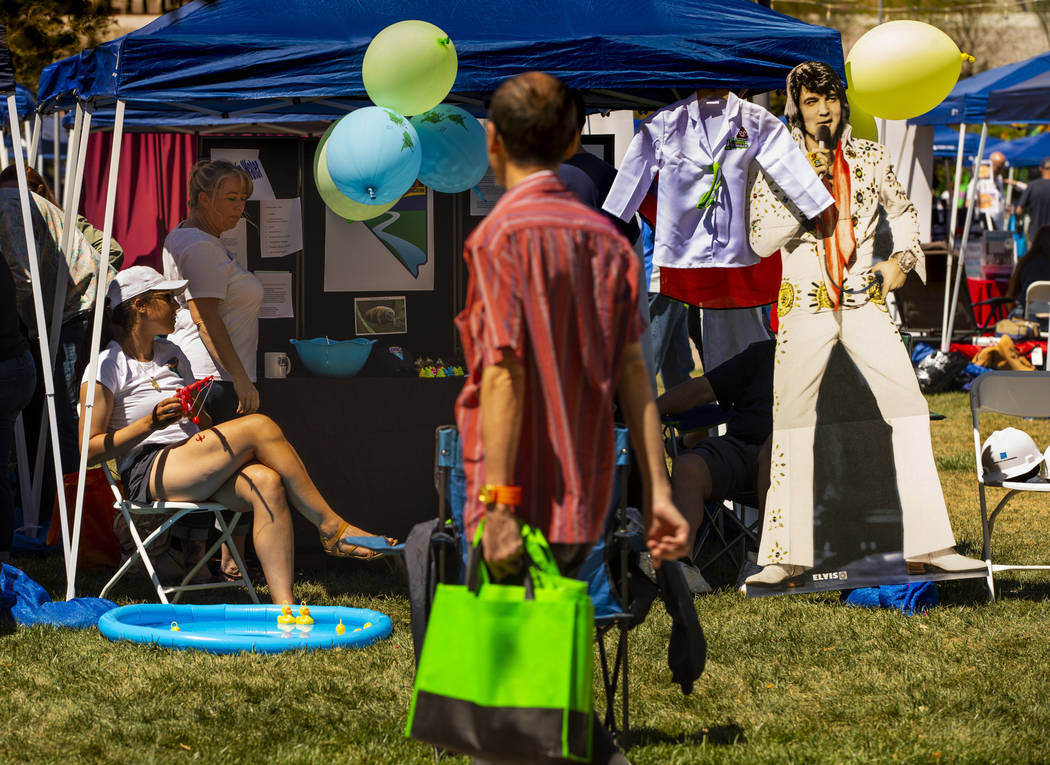 The Nevada Water Environment Association offers an informative and fun booth as the GREENFest c ...
