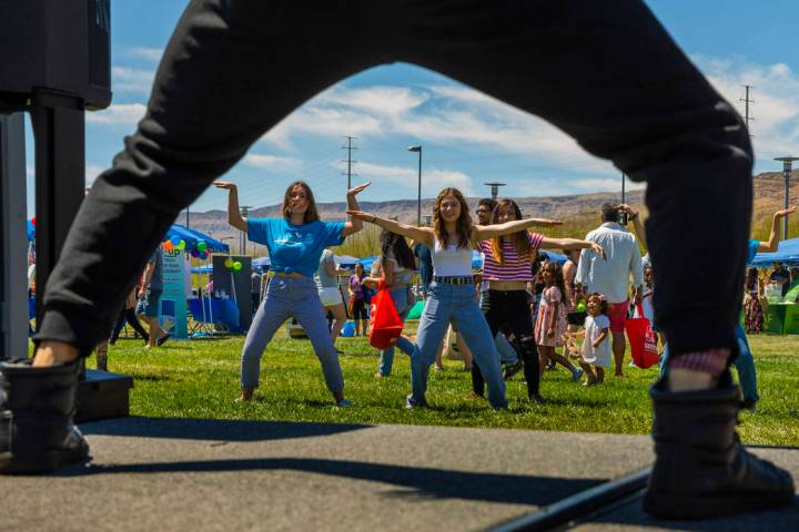 Gary Nelson with Dance Dynamics leads a dance class as GREENFest celebrates its 10th anniversar ...