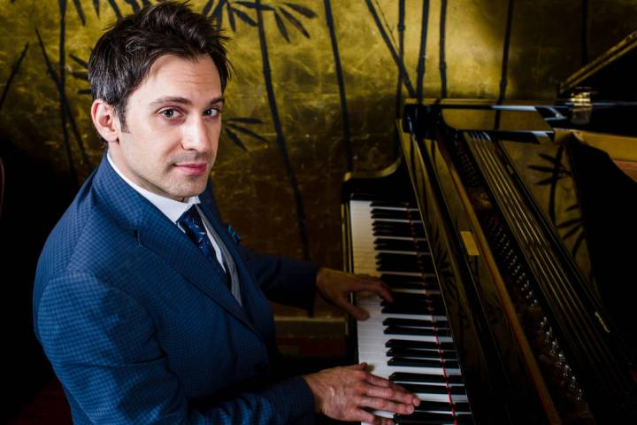 The front man of Scott Bradlee's Postmodern Jukebox is shown in a promotional shot. PMJ has ope ...