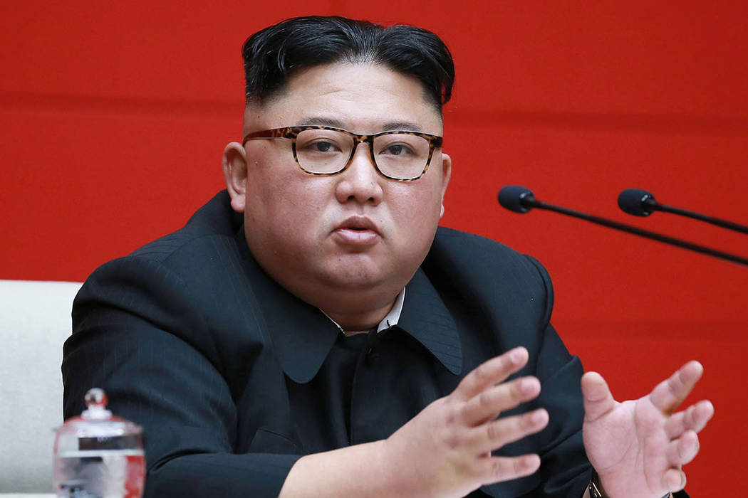 North Korean leader Kim Jong Un attends the 4th Plenary Meeting of the 7th Central Committee of ...