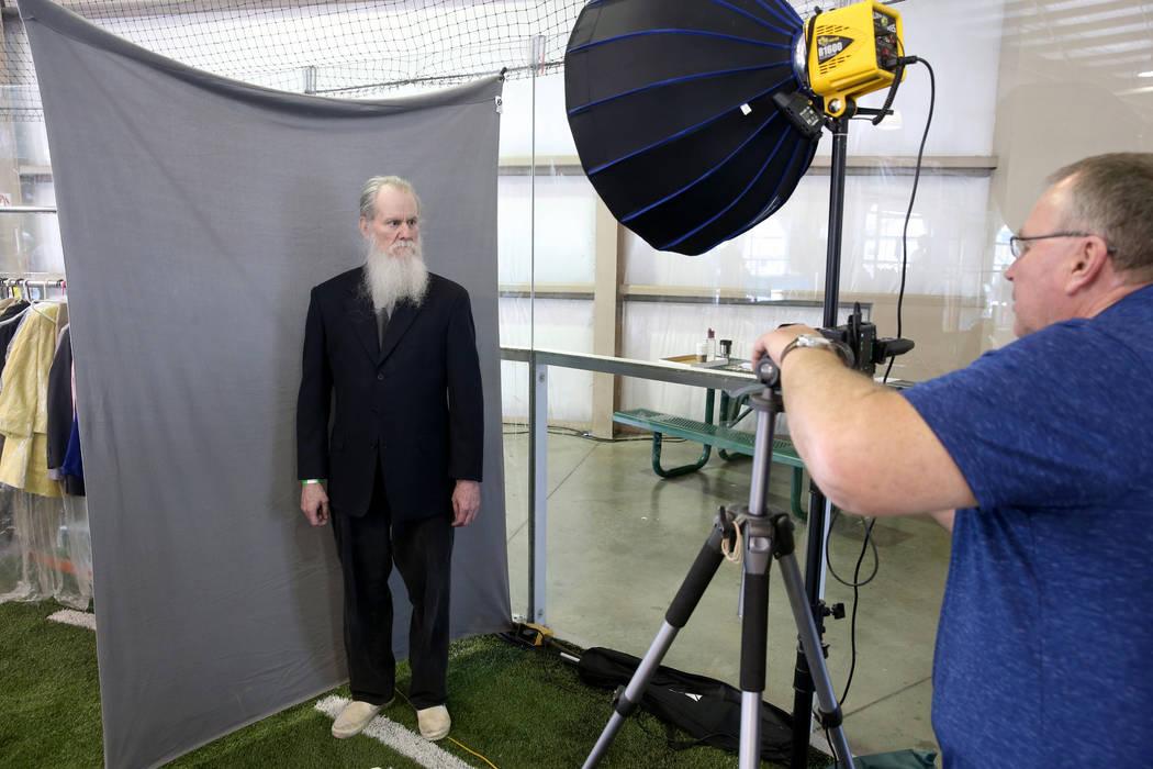 "U.S. Army veteran William ""Scotty"" Donaldson, 58, poses for photographer Mikel Conrad ..."