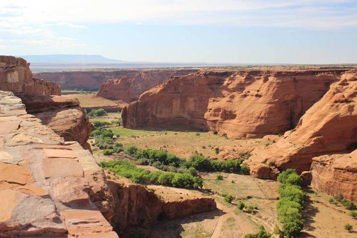 Canyon de Chelly's South Rim Drive offers seven overlooks to see down into the canyon. ( ...