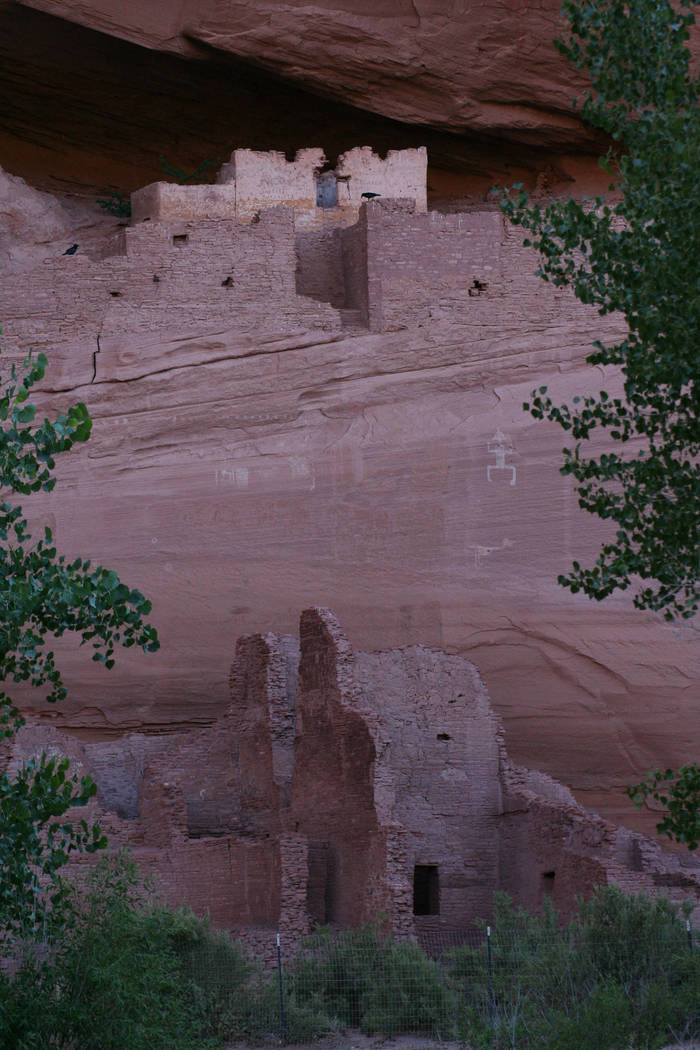 Ruins of former dwellings are found throughout the canyon. (Deborah Wall/Las Vegas Review-Journal)
