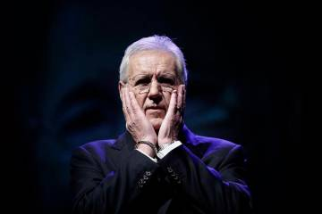 Alex Trebek in an Oct. 1, 2018, photo. (AP Photo/Matt Rourke)