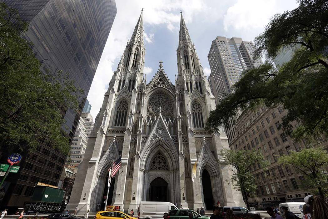 This Sept. 6, 2018, photo shows St. Patrick's Cathedral in New York. A New Jersey man has been ...