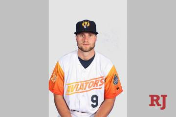First baseman Seth Brown belted two home runs on Wednesday, April 17, 2019, to lead the Aviator ...