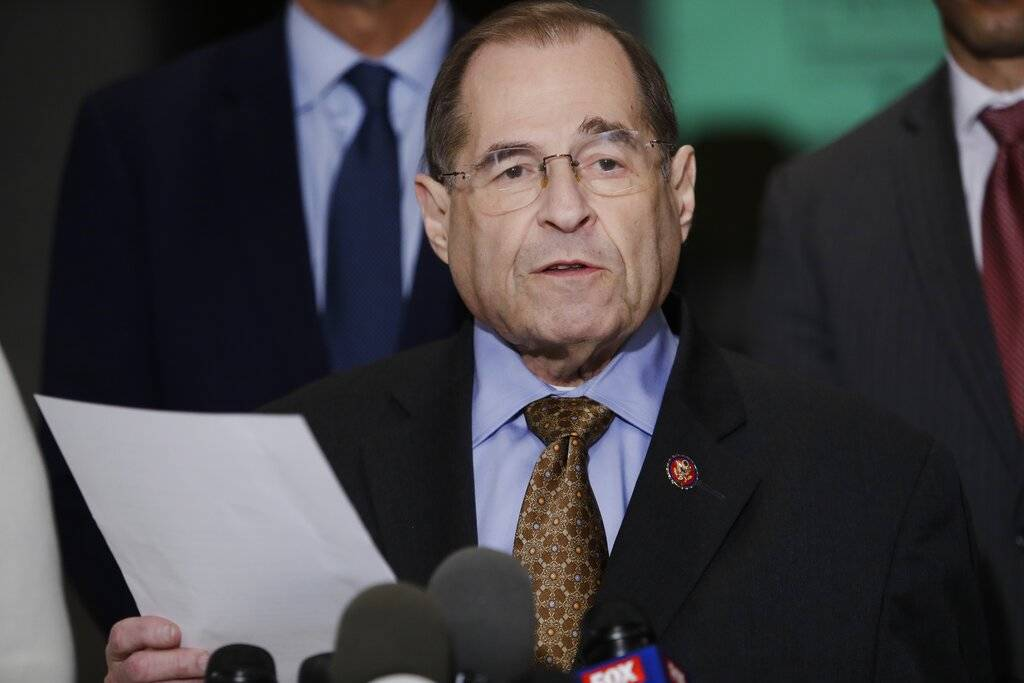 U.S. Rep. Jerrold Nadler, D-N.Y., chair of the House Judiciary Committee, speaks during a news ...