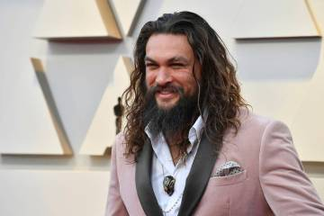 Jason Momoa arrives at the Oscars on Sunday, Feb. 24, 2019, at the Dolby Theatre in Los Angeles ...