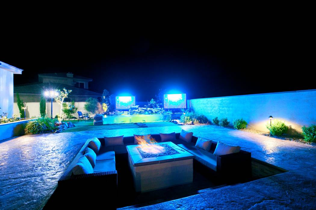 The patio area of Brett Raymer's home. (Signature Real Estate Group)
