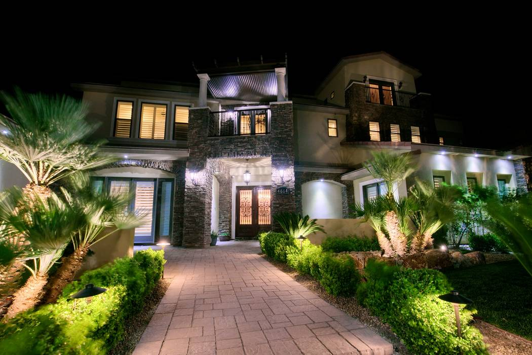 The exterior of Brett Raymer's Las Vegas home. (Signature Real Estate Group)