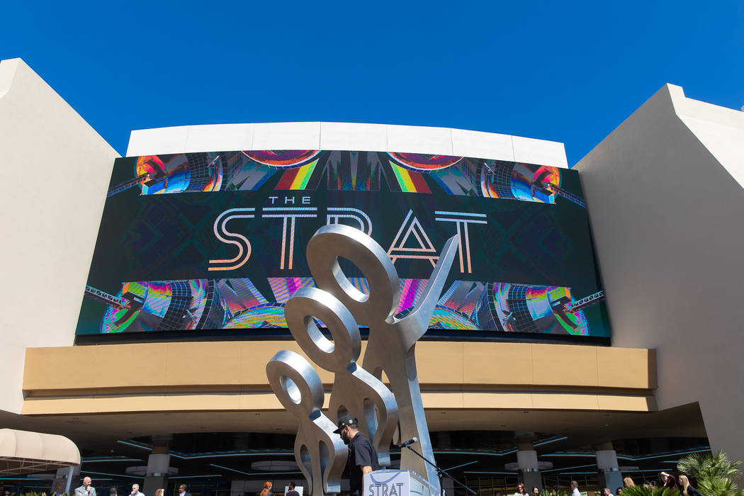 """""""Look!"""" at The Strat on April 18, 2019. (Ray Alamo)"""