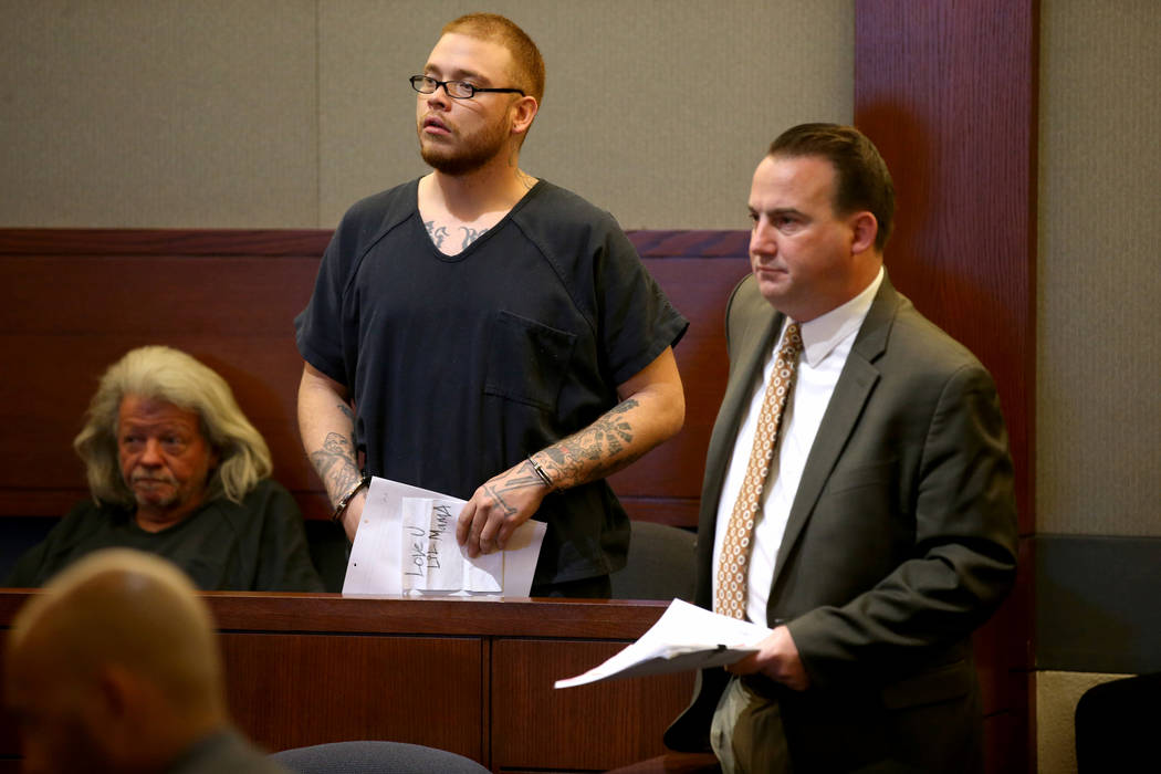 Jon Kennison, 27, appears in court with his attorney, Deputy Public Defender Ryan Bashor, at th ...