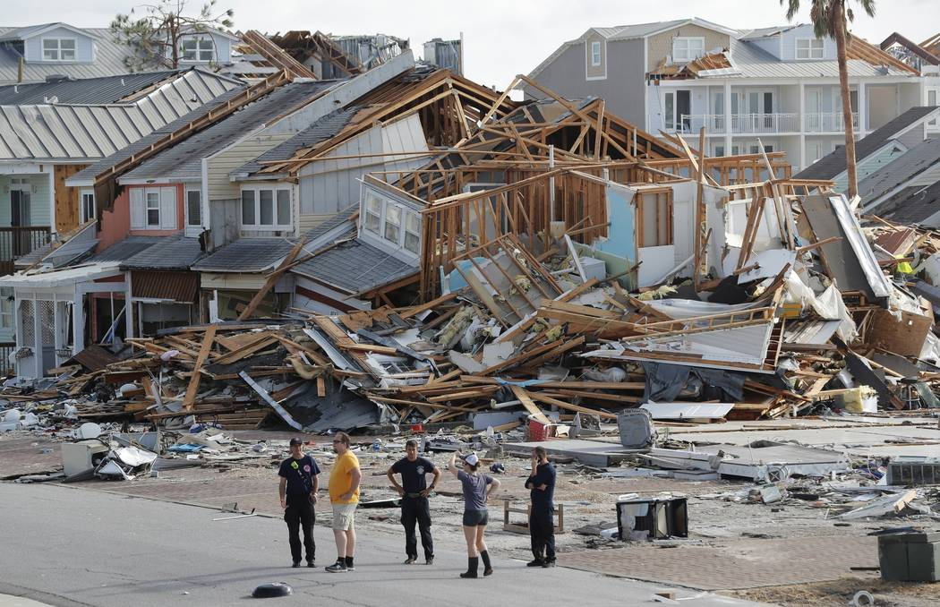 Rescue personnel perform a search Oct. 11, 2018, in the aftermath of Hurricane Michael in Mexic ...