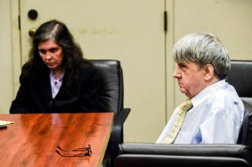 ouise Turpin, left, and her husband, David Turpin appear Aug. 3, 2018, in Superior Court in Riv ...