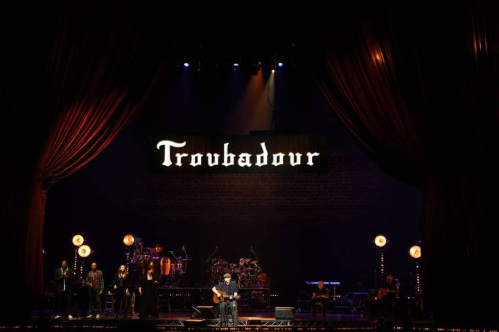 James Taylor performs at the Colosseum at Caesars Palace on Wednesday, April 17, 2019. (Denise ...