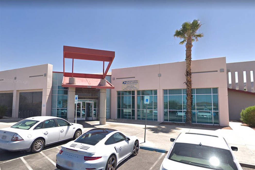 The post office at 1575 W. Horizon Ridge Parkway in Henderson is seen in a screenshot. (Google)