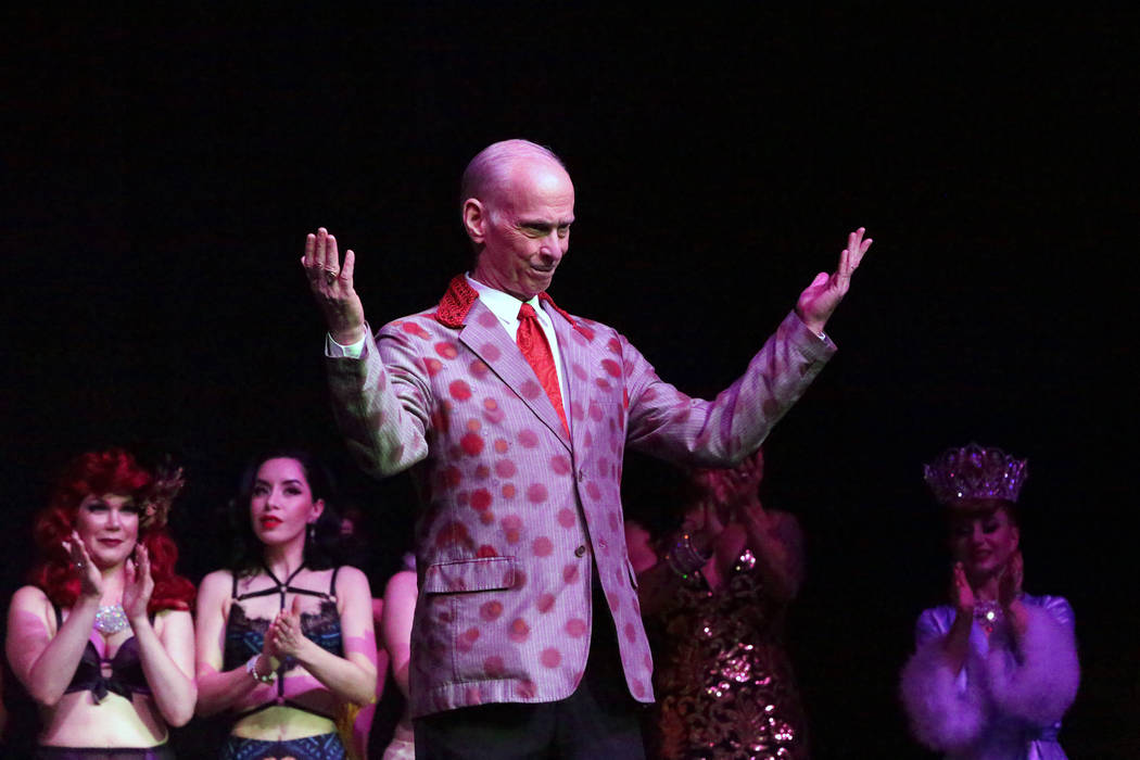 Filmmaker, author and comedian, John Waters hosts the Burlesque Showcase during the Viva Las Ve ...